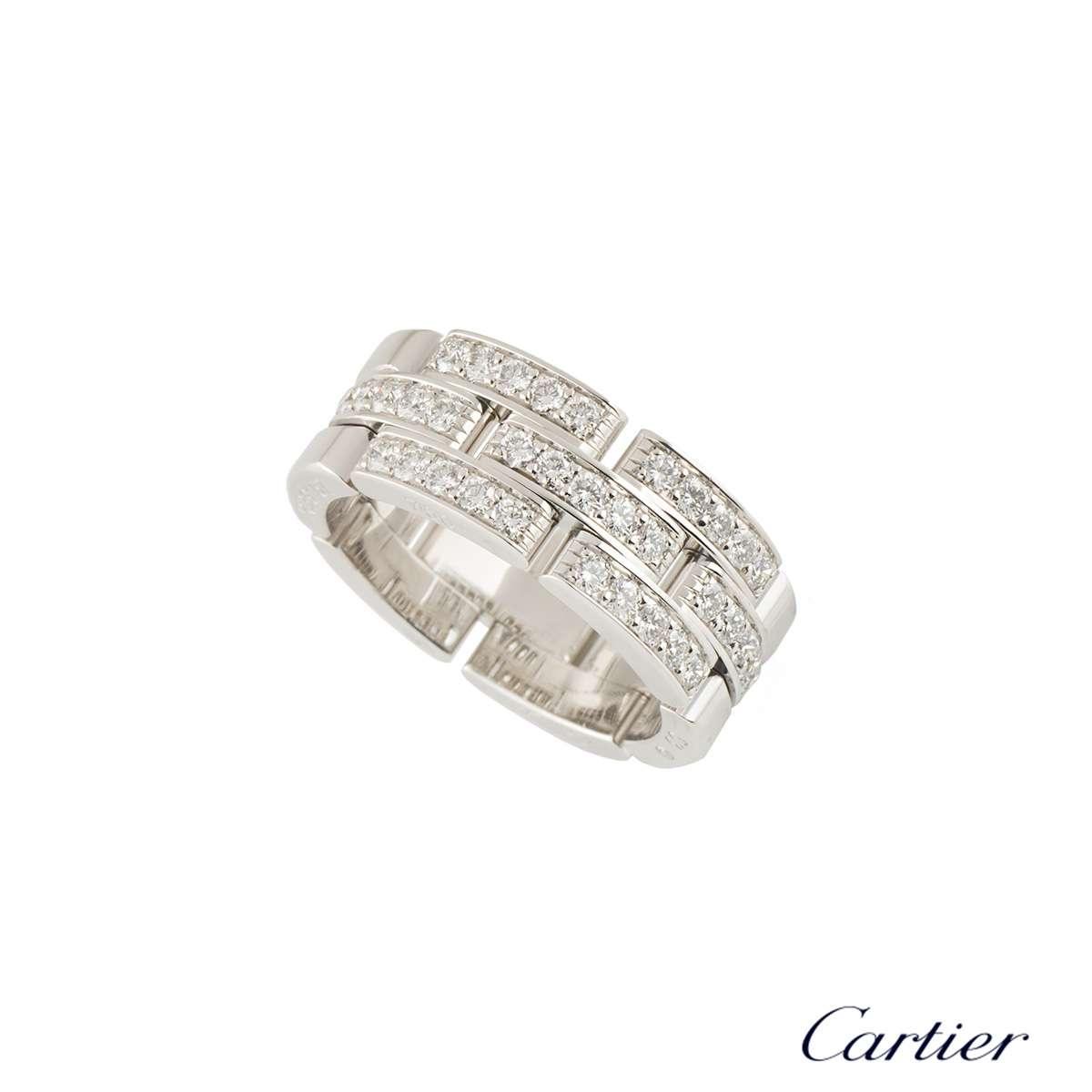 CartierWhite Gold Diamond Set Maillon Panthere RingB4127200